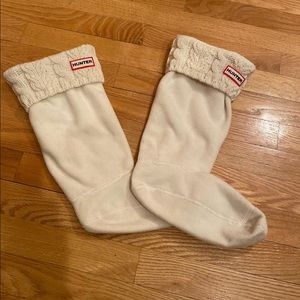 Hunter Rain Boots Tall Cable Knit Socks